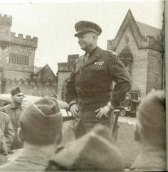 BAMF Eisenhower addressing the Division at Margan Castle, Port Talbot, Wales, just before D-Day Normandy Beach, Shield Maiden, D Day, Us Army, Division, Wales, Liberty, Castle, Military