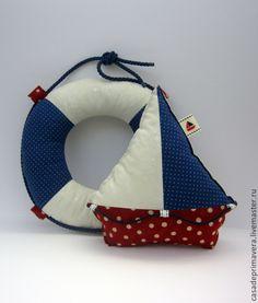 Купить Набор интерьерных игрушек в морском стиле. - розовый, море, морской стиль, морская тема