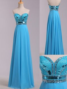 Blue Prom Dresses,Beaded Evening Dress,Sexy Prom Dress,Beading Prom Dresses,Modest Prom Gown,Elegant Prom Dress,Sparkle Evening Gowns,Long Party Dress With Gold Beads for Teen