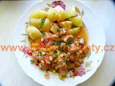 Detail receptu - Sójové kostky po mexicku Tofu, Risotto, Potato Salad, Steak, Potatoes, Detail, Ethnic Recipes, Potato, Steaks
