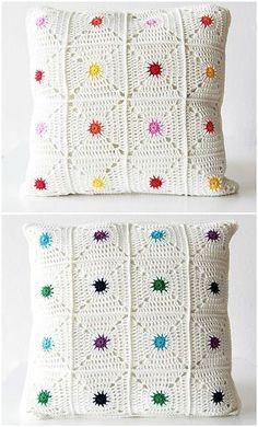 Hot Spot Pillow By Kirsten - Purchased Crochet Pattern - (ravelry) ☂ᙓᖇᗴᔕᗩ ᖇᙓᔕ☂ᙓᘐᘎᓮ http://www.pinterest.com/teretegui