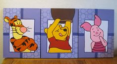 Winnie the Pooh and Friends Nursery Canvas by ArtisticMuseAlley