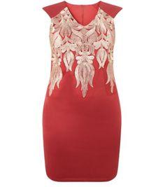 Koko – Figurbetontes rotes Kleid mit Spitze