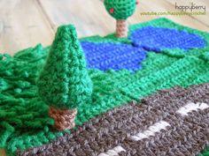 Happy Berry Crochet: CAL Crochet Road Play Mat - Fir / Pine Tree - *BONUS 1
