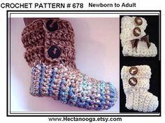 crochet cuffed bootie
