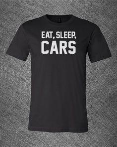 Pop Culture Trendy Eat Sleep Cars JDM detroit auto honda exhaust horsepower gtr ferarri Tee T-Shirt Ladies Youth Adult Unisex