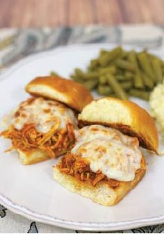 Slow Cooker Chicken Parmesan Sliders