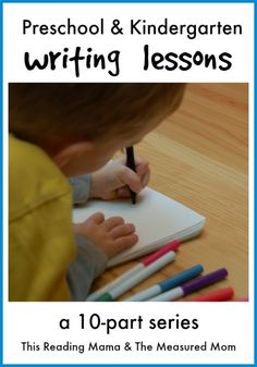 New series for teaching preschoolers and kindergartners to write!  Whether your young child is scribbling or writing real words, this series is for you!