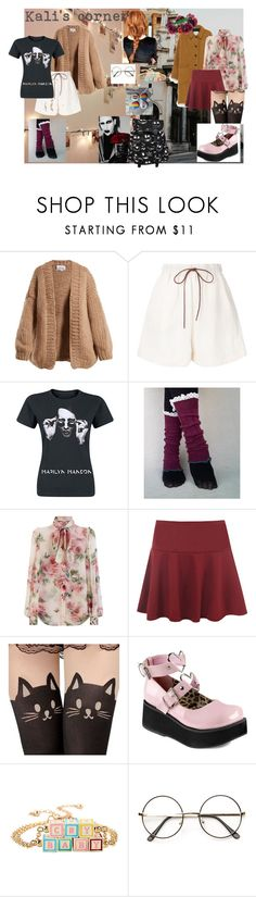 """""""Kali's corner"""" by the-monochrome ❤ liked on Polyvore featuring I Love Mr. Mittens, J.W. Anderson, American Vintage, Dolce&Gabbana, WearAll, Demonia, Hot Topic and Rock 'N Rose"""