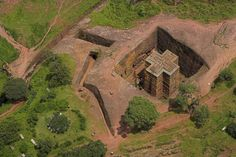 Churches hewn from the living rock in Ethiopia.