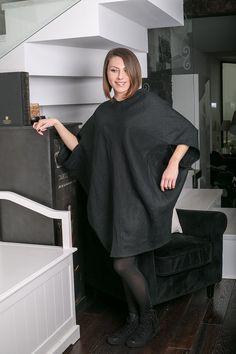 Minimalist Dress,LINEN BLACK DRESS,Flax Dress,Extravagant Black Short Dress,Top Italian Fabric Dress,Conceptstyle,Promo offer, 02C15-00105 by ConceptStyle on Etsy