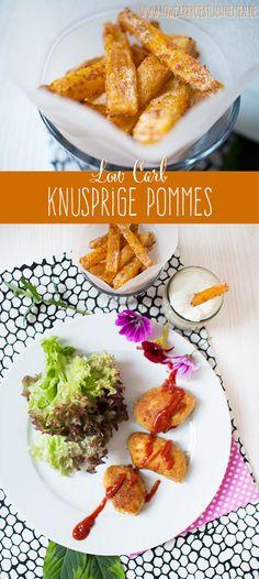 Endlich knusprige low carb Pommes! www.lowcarbkoestlichkeiten.de #lowcarb