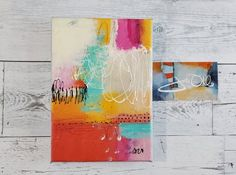 Colorful Small Abstract Painting Dont Get Lost in the Noise by Jodi Ohl This vibrant painting represents all the noise in our life that tends to distract us from our mission in life. Family, friends, career, relationships, politics, there are so many things we can get wrapped in every moment of the Tiny Treasures, Vibrant, Artsy, In This Moment, Texture, Abstract, Canvas, Relationships, Career