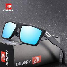 e50605f09a DUBERY Polarized Aviation Sunglasses Mens Retro Male Colorful Sun Glasses  For Men Fashion Brand Luxury Mirror