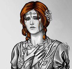 Sad Triss by Anastasia Kulakovskaya (Witcher)