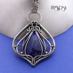 Earthsea inspired sterling silver pendant. Wire wrapped pendant by mgypsy.