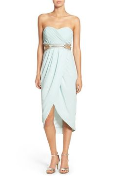 TFNC 'Catalina' Embellished Strapless Midi Dress available at #Nordstrom