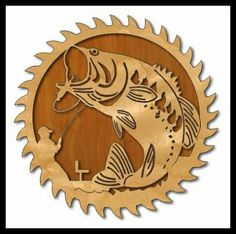 Scroll Saw Workshop Fishing Saw Blade Plaque