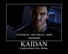 "Yes Kaidan, you were pretty ""spectacular"" ;)"