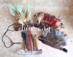 Boys Olivier Feather Tieback Boho Feather by Oliviaanncollections