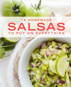 Homemade Salsa Recipes - Summer Salsa Recipes