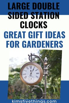 Outdoor Wall Clock Ideas with Thermometer. Decorative Wall Clocks that are perfect for the Garden, Patio, Pool and Home.