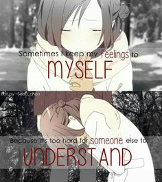 Yep.. If only you understood.. Then.. Then I couldve been spared...
