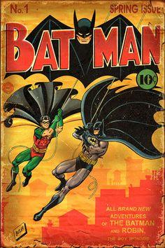 Batman Vintage Cover Recreation by Jeff Butler - Batman Art - Ideas of Batman Art - Batman Vintage Cover Recreation by Jeff Butler Batman Poster, Batman Comic Books, Batman And Superman, Batman Robin, Comic Books Art, Spiderman, Batman Stuff, Batman Cast, Batman Arkham
