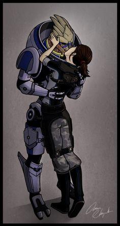 Garrus Vakarian + Commander Shepard #masseffect