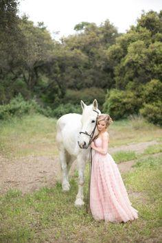 Fairytale secret garden wedding with vintage dress in pink layered tulle