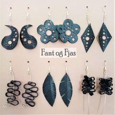 Øredobber laget av gamle sykkelslanger. Redesign. upcycling. Crochet Earrings, Drop Earrings, Jewelry, Repurpose, Jewlery, Jewerly, Schmuck, Drop Earring, Jewels