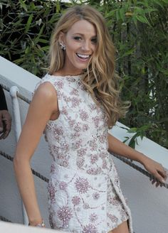 Blake Lively wearing Chanel during the Cannes Film Festival 2014