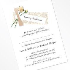 rosy Flat Invitations