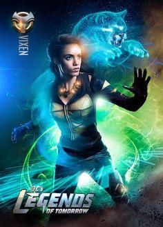 "DC's Legends of Tomorrow Maisie Richardson-Sellers as ""Amaya Jiwe/Vixen"" Dc Comics Girls, Heroes Dc Comics, Dc Comics Tv Shows, Marvel Comics, Comics Anime, Dc Tv Shows, Dc Comics Characters, Vixen Dc Comics, Movie Characters"
