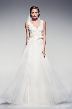 pallas couture bridal 2014 fleur blanche amabelle sleeveless lace bodice wedding dress