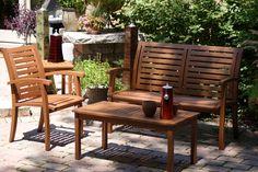 The Luxe Eucalyptus Bench & Arm Chair