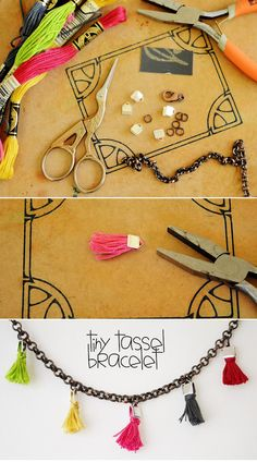DIY Tiny Tassle Bracelts. I just want to make these tassels
