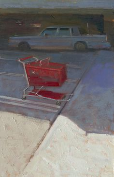 William Wray: Target. The empty cart held and transported things deemed important...