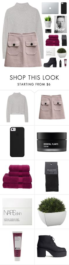 """""""claustrophobia"""" by onibugis ❤ liked on Polyvore featuring Line, COS, Koh Gen Do, Christy, SELECTED, NARS Cosmetics, Crate and Barrel, Korres and H&M"""