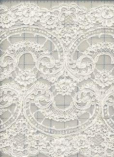 Fluer de Lis Alencon Lace Border -would be awesome as a background for pics