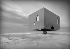 Dominik von Moos . Amor vacui - Haus im Wattenmeer (1)