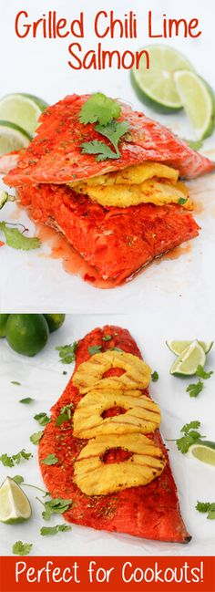 Grilled Chili Lime Salmon with Pineapple