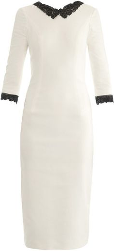 L'wren Scott White Headmistress Fitted Dress