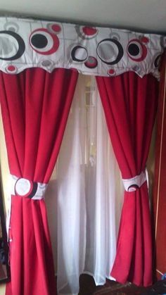 Girls Bedroom Curtains, Curtains And Draperies, Home Curtains, Kitchen Curtains, Window Curtains, Drapery, Living Room Modern, Living Room Decor, Bedroom Decor