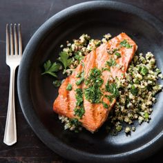 Foodie Friday: Salmon with Quinoa and Parsley Vinaigrette - The Interiors Addict