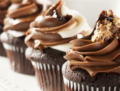 Who needs a special occasion to indulge in a little chocolate? If YOU do, you're in luck because it's National Chocolate Cupcake Day and I've got some delish recipes. Anna Olson, Cupcake Cream, Cupcake Day, Cupcake Cakes, Cup Cakes, Frosting For Chocolate Cupcakes, Cupcakes With Cream Cheese Frosting, Frosting Recipes, Cupcake Recipes