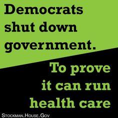 Democrats shut down the government to prove it can run health care.