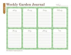 Print This Free Garden Planner: Printable Weekly Garden Journal