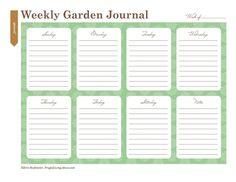 Print This Free Garden Planner: Printable Weekly Garden Journal