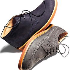 The perfect chukka and blucher styles from #tods designed with the comfortable bonus of rubber soles. #perfectpairs